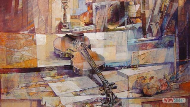 03-Violino e spartiti a 80x80